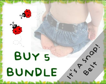 It's A Snap! Belt BUNDLE - Buy 5 & Save - elastic belts for toddlers to age 5+