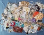 5 Pounds Destash Vintage and Retro Jewelry for Resale and Repair