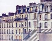 """Paris art print,large Paris photography, Paris architecture, Paris houses - """"Bon Nuit, Paris"""""""