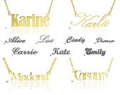 Sale coupon inside | Name Necklace, Gold Name Necklace, Any Personalized Name