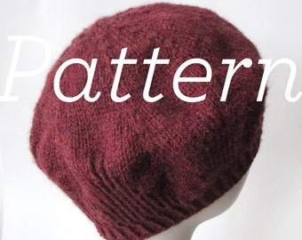 Knit Hat Pattern – Ginger Beret - Pattern PDF - Instant Download