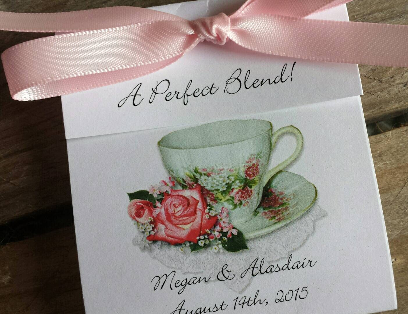 Coral Wedding Tea Favors Pretty In Pink Rose Teacup A