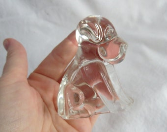 Antique Glass Puppy Dog Candy Container
