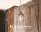 Downrod Light with Clear Glass Cylinder Shade