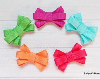 Bright Baby Bow Set - Itty Bitty Bow, Bitty Bow, Baby Girl, Toddler Girl, Newborn Girl, Bow Set, Baby Shower, Baby Gift, Bitty