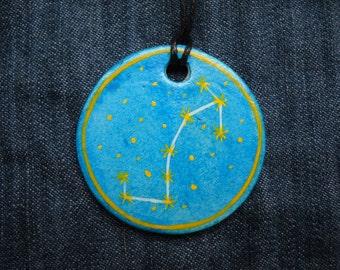 Scorpio Jewellrey -Zodiac pendant,Constellation Zodiac Jewellery,august zodiac- Astrology - Astronomy - Constellation on Blue