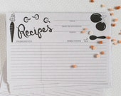 Recipe Cards 4 x 6, Set of 15 or 50.  Mother's Birthday gift, Mother's Day Gift, Bridal Shower Gift, House Warming gift.