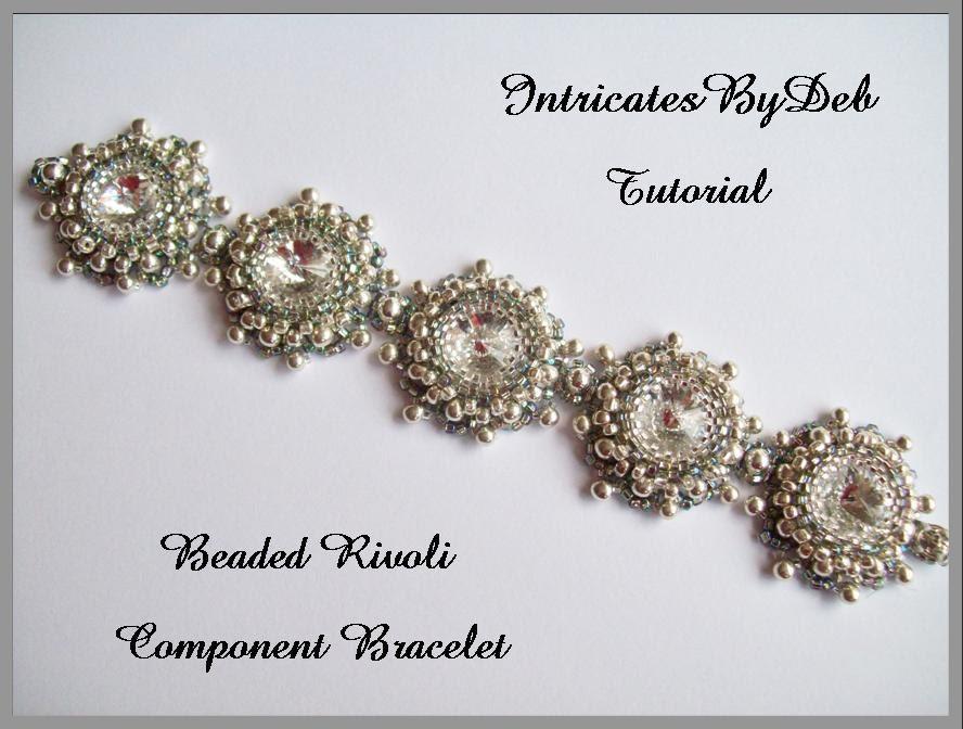pdf tutorial beaded rivoli motif bracelet jewelry beading