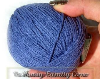 Blue gray colored (993) cotton yarn Lanoso Alara cotton DSH(P1)
