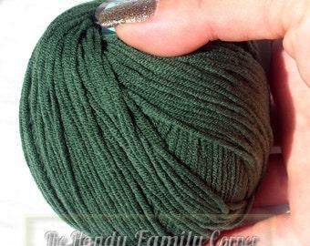 Lanoso Alara cotton Yarn. Green yarn. Cotton yarn. Color 929. DSH