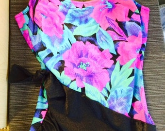 Make me an Offer! Bright Floral Gabar Bathing Suit One Piece