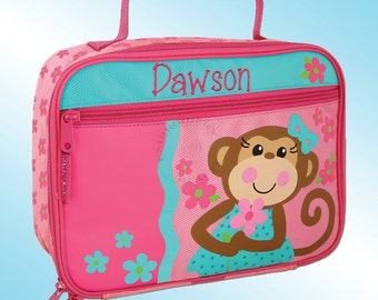 Lunchbox - Personalized and Embroidered - Fully Insulated - GIRLY MONKEY