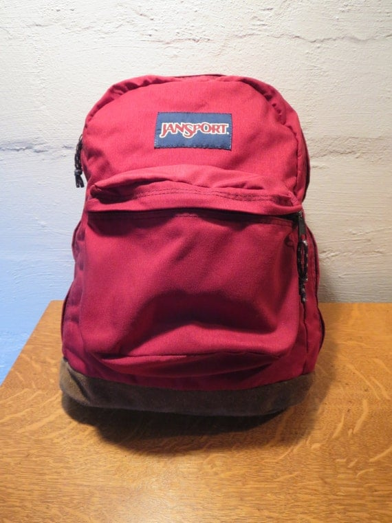 Vintage Jansport Backpack with Leather Bottom Jansport