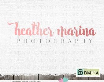 Premade Logo - Photography Logo - logo for photographer - shop logo - logos - business logo - photography logo & Watermark Design Text Logo