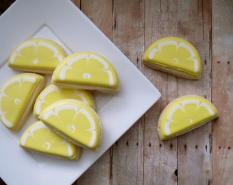 Lemon Slice Iced Sugar Cookies (2 Dozen)