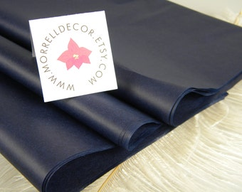24 Deep Navy Blue Midnight Blue Tissue Paper Sheets of 20 X 30 inches | DIY Navy Wedding Decor Gift Wrap Idea | Packaging | DIY Supplies