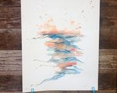 Settled In - Original Watercolor - 18inx24in vertical