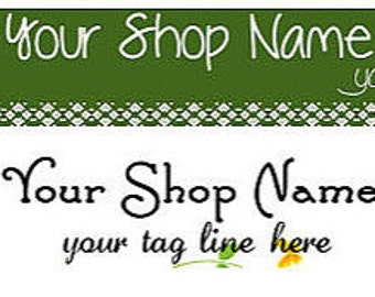 Premade  Green Leaf Eco-Friendly  Flower Banner and Avatar - You Pick One