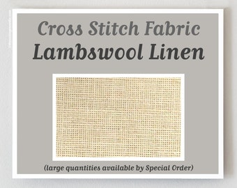LAMBSWOOL counted cross stitch fabric : 28 32 35 40 ct. count linen Wichelt hand embroidery sampler reproduction