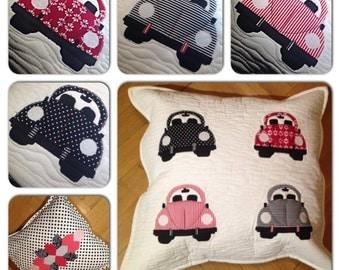 VW beetle car pillow