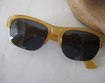 vintage sunglasses - retro, amber, made in Japan