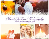 Pinterest Marketing Template Collage | Couple, Family, Wedding Portrait Session | Digital Download | PSD File