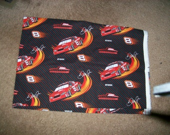 2003 Nascar Dale Jr Fabric in black red and orange