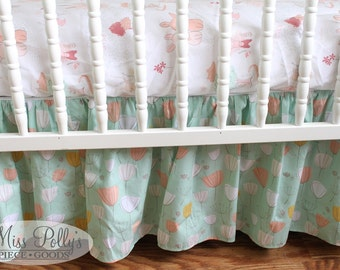Custom Baby Crib Bedding -Design Your Own - Upgrade to a Gathered Skirt
