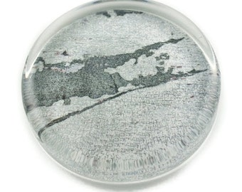 Long Island East End Paperweight, Long Island Map, Original Fine Art Print Decoupaged on Crystal Glass, Handmade Gifts