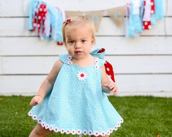 Girls Cake Smash Twirl Sundress & Ruffled Bloomers