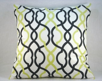 Waverly Make Waves Twill Domino Decorative Accent Pillow 18x18 Pillow Cover