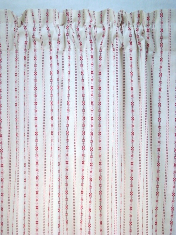 Cafe Curtains Kitchen Curtains Red Ticking Cafe Curtains Kitchen Cafe ...