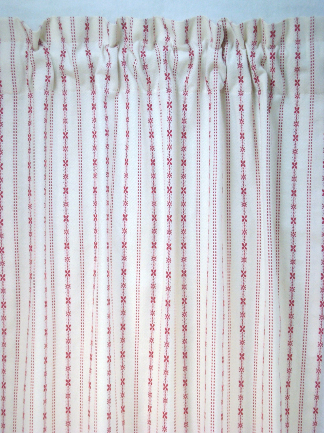 Cafe Curtains Kitchen Curtains Red Ticking Cafe Curtains