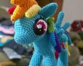 Rainbow dash amigurumi my little pony