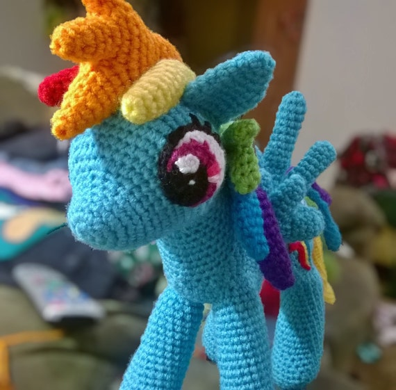 Amigurumi Pattern My Little Pony : Rainbow dash amigurumi my little pony