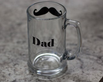 ON SALE. Father of the Bride or Groom Gift. athers day gift. Mustache and name. Personalized gift for dad. Birthday gift. Gifts for him