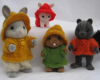 PDF RUSTIC Knitting Pattern for Collectors for Sylvanian Families, Calico Critters