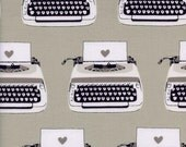 Black and White Typewriters, Melody Miller, Cotton+Steel, RJR Fabrics, 100% Cotton Fabric, 5034-1
