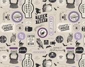 Happy Haunting Stickers in Purple, Deena Rutter, Riley Blake Designs, 100% Cotton Fabric, C4672-PURPLE