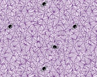 Halloween Magic Spider Web in Purple, Bella Blvd, Stephanie Hunt, Riley Blake Designs, 100% Cotton Fabric, C4612-PURPLE