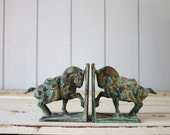 Vintage Horse Bookends // Ming Style