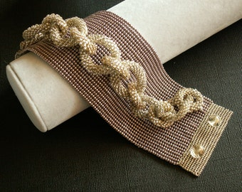 Bracelet, Beaded Cuff