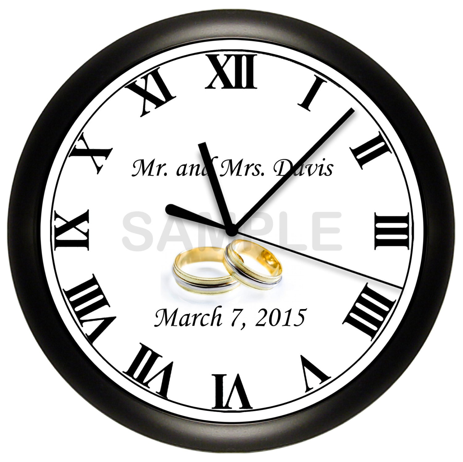 Custom Personalized WEDDING Wall Clock