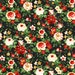Black Large Floral from Crimson & Holly by Danui Nai Collections for Wilmington Prints