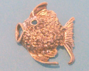 Vintage Sterling Silver Fish Pendant or Charm