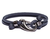 Men's rope bracelet - Parachute cord bracelet for men - Father's Day Jewelry for Men - Blue Force bracelet - Military inspired
