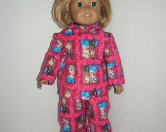 18 inch Doll Frozen inspired Pajamas