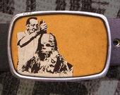 Chewbacca Hair Cut Star Wars Belt Buckle, Vintage Inspired, Geekery 581