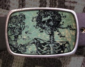 Grateful Skeleton Belt Buckle, Grateful Dead Buckle 572