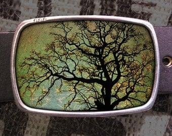 Tree Portrait Belt Buckle, Vintage Inspired- 600